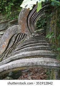 Concrete arches in the wild jungles