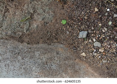 Concrete Background with soil