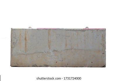 Concrete barrier or Cement block isolated on white background