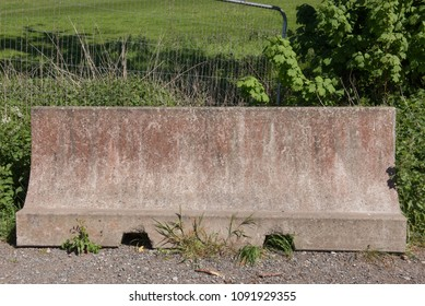 Concrete Barrier in Rural Devon, England, UK