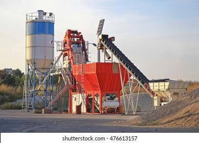 Concrete Batch Plant at Construction Site