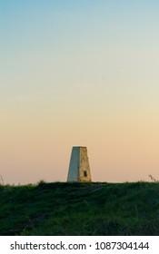 Concrete Beacon point at dusk