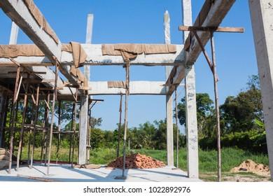 concrete beam for construction.