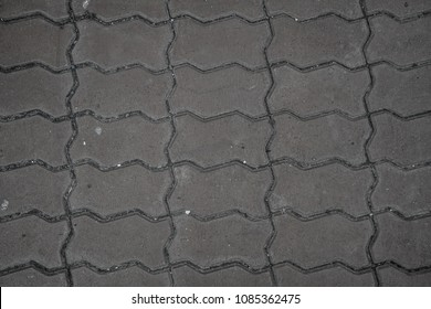 Concrete block pavement