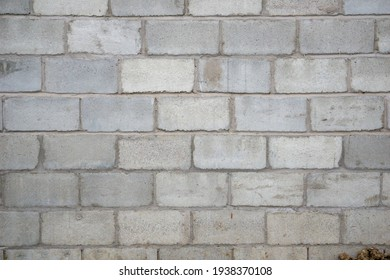 Concrete block wall seamless background and texture. New wall at factory.