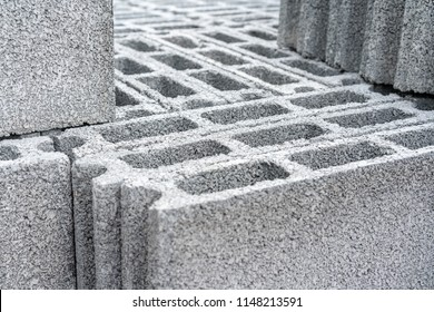 Concrete Blocks for construction, Background and Texture with Selective Focus