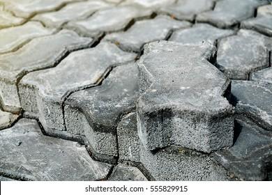 Concrete Blocks for construction, Selective Focus