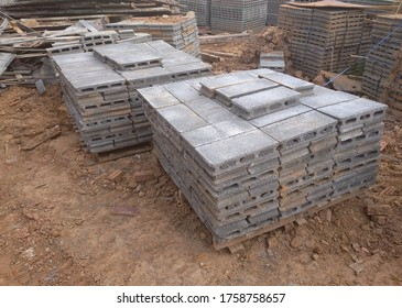 Concrete Blocks in Stack for Construction.