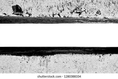 Concrete border (pillar, curb) close, isolated