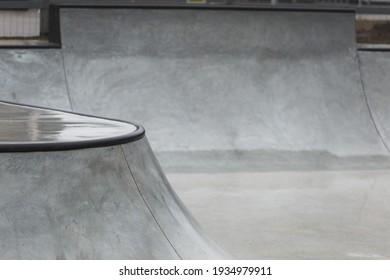 Concrete bowl in the skatepark