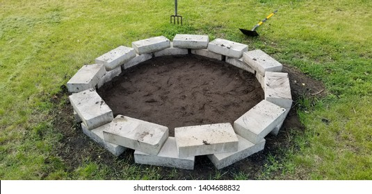 Concrete Brick Firepit, Recreational Use