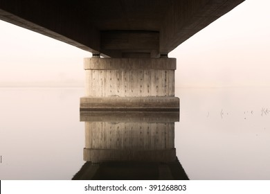 Concrete bridge over water