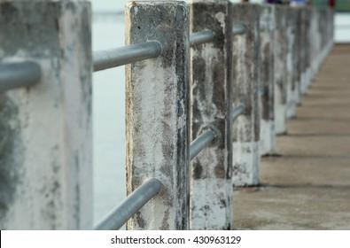Concrete bridge to the sea.