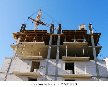 Concrete building under construction