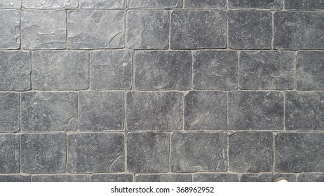 Concrete cement flooring type pattern