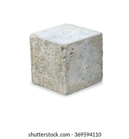 concrete construction block isolated on white background