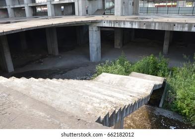 concrete construction, unfinished building