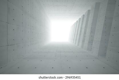 concrete corridor interior