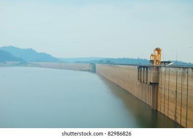 Concrete dam in Thailand