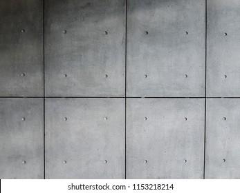 Concrete decorative panels. Concrete facade.
