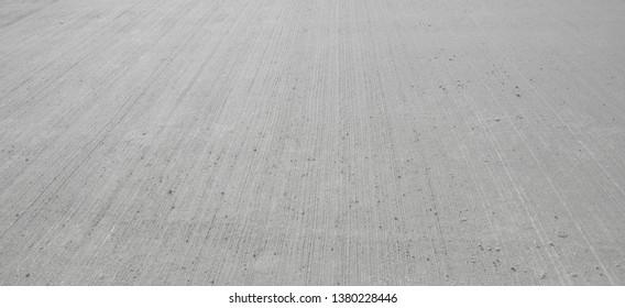 Concrete floor aircraft runaway background, texture