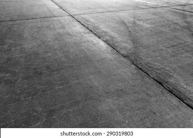 Concrete floor aircraft runaway background