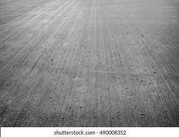 Concrete floor aircraft runaway background, texture