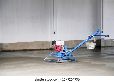 Concrete Floor Grinding Machine in construction site.