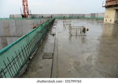 Concrete floor poured new.
