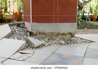 Concrete floor subsidence