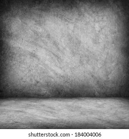Concrete floor and wall for background with shadow