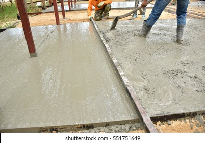 Concrete floor, concrete works.