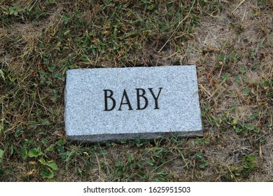 Concrete Grave Marker for Baby