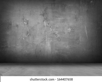concrete grey wall and floor with shadows