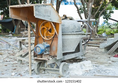 Concrete mix machine.