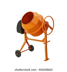 Concrete mixer isolated