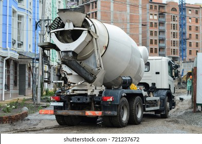 concrete mixer on construction