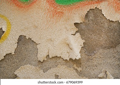 Concrete painted shabby aged wall background