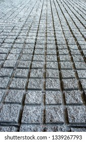concrete pavement, perspective