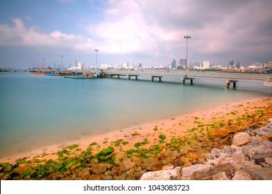 A Concrete Pier in Pattaya City, Thailand