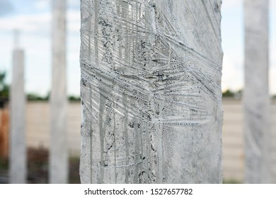 concrete pillar mold for house construction building site framework for pouring concrete curing for cement posts construction for structural strength house building