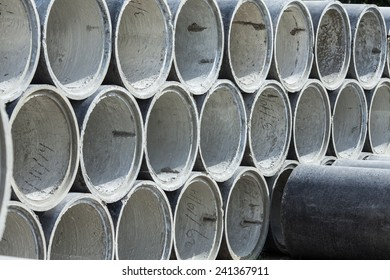 Concrete pipes for construction and industry
