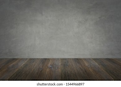 Concrete plaster cement polishing loft style wall or floor texture abstract texture surface background use for background with wood table or terrace