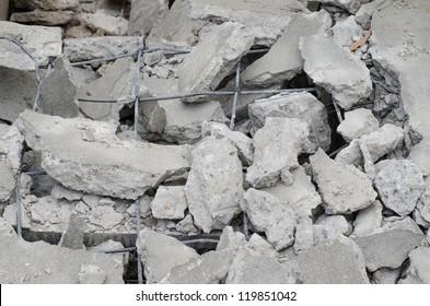 Concrete road broken in. It is not standard
