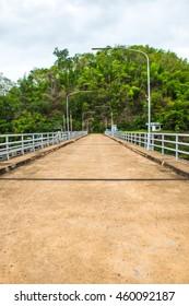 Concrete road on Kio Lom dam, Thailand