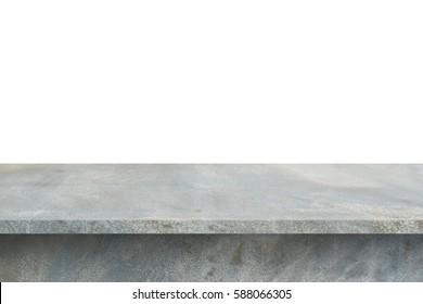 Concrete Shelf Table isolated on white background