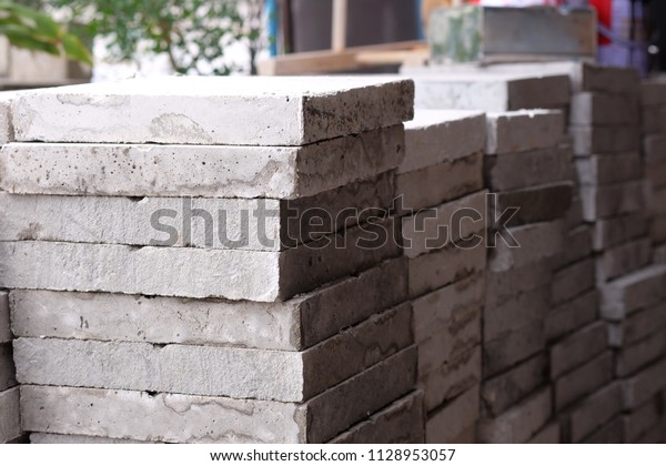 Concrete Slab Compressive Strength Test Checking Stock Photo