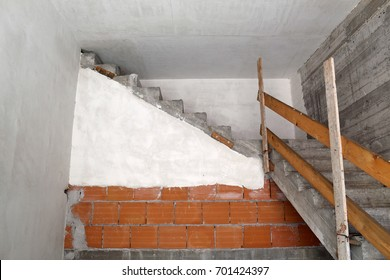 Concrete staircase leading to nowhere.