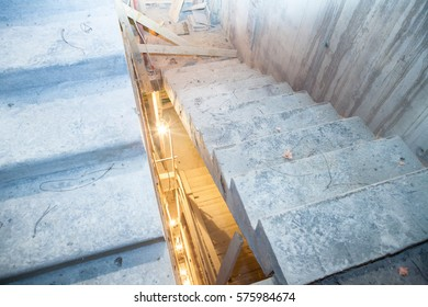Concrete stairs construction site