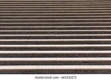 Concrete stairs, detailed view of stairs.